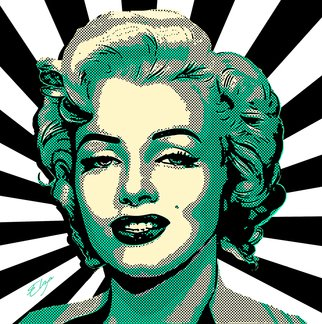Zaharia Elena: 'marilyn popdiva', 2018 Mixed Media, Celebrity. Artist Description: Pop Art Marilyn Monroe portrait...