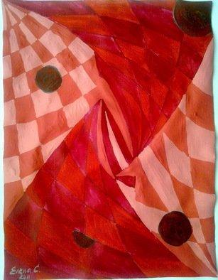 Artist: Elena Solomina - Title: Red Galaxy 6 - Medium: Acrylic Painting - Year: 2011
