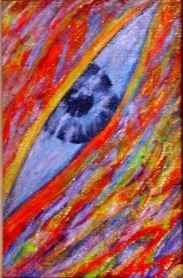 Gera Elen Artwork 'YANG EYE', 2008. Other Painting. Healing. Artist Description: oil acrylic gold on canvas ......