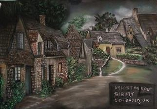 Eli Gross: 'Arlinton Row in Bibury ', 2014 Pastel, Landscape. Artist Description: Pastelon Canson...