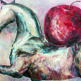 HORSE WITH APPLE