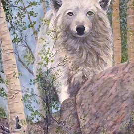 Ellen E Hinson Artwork Watching You, 2015 Oil Painting, Wildlife