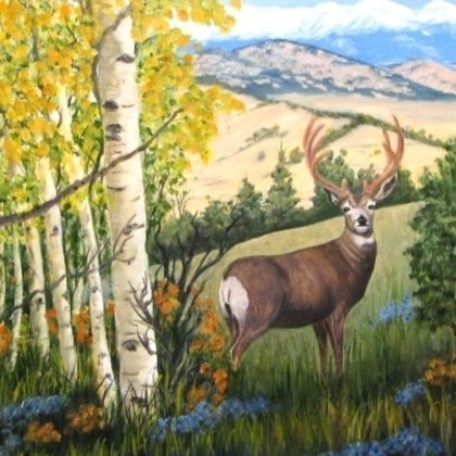 , Deer Amid The Aspens, Wildlife, $499