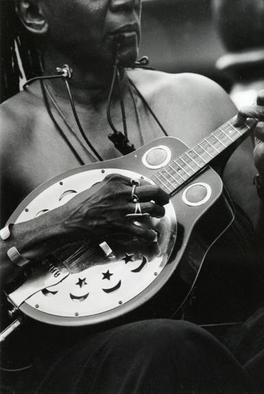 Ellen Rosenberg: 'Dobro Player', 2005 Silver Gelatin Photograph, Music. Artist Description: