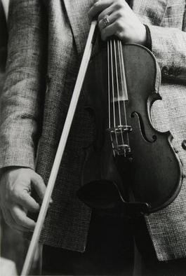 Ellen Rosenberg: 'Hot Club Fiddle', 2005 Silver Gelatin Photograph, Music. Artist Description: