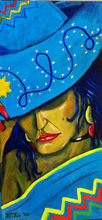- artwork Mujer_con_sombrero_1-1201827573.jpg - 2007, Painting Oil, Figurative