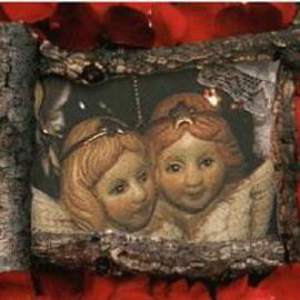 Elra Norris-gattermeir Artwork Cherubs with Red Border, 2001 Other Photography, Romance