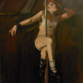 Gregory Elsten: 'Dancer ', 2012 Oil Painting, Figurative. Artist Description:         figurative        ...