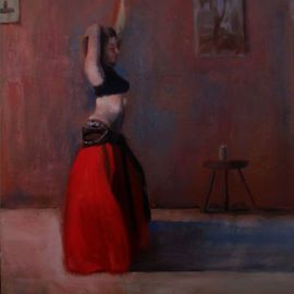 Gregory Elsten: 'Dancer in Red', 2012 Oil Painting, Figurative. Artist Description:        figurative       ...