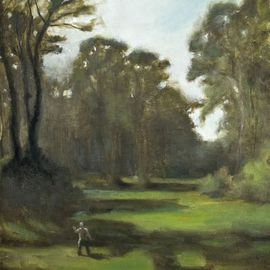 Gregory Elsten: 'GG park', 2009 Oil Painting, Figurative. Artist Description: figurative ...