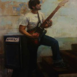 Gregory Elsten: 'the baritone', 2012 Oil Painting, Figurative. Artist Description:       figurative      ...