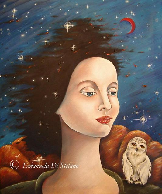 Emanuela Di Stefano  'Catherine E Le Sue Notti Liriche', created in 2010, Original Painting Oil.