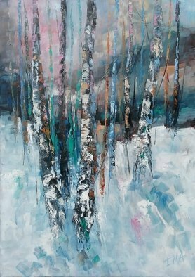 Emilia Milcheva: 'winter magic nr 4', 2018 Oil Painting, Landscape. Artist Description: I am practically in love with every tree. They are so beautiful in my eyes. So beautiful in their various stages of metamorphosis. So beautiful in their dramatically changing conditions and moods. So beautiful that they became my favorite subject to paint. I love the energy that I ...