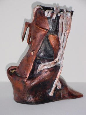 Emilio Merlina: 'Pugnacious', 1990 Ceramic Sculpture, Inspirational. Artist Description: sculpture terracotta...