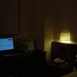 Emilio Merlina: 'a ghost is walking in this hotel room', 2005 Color Photograph, Inspirational.