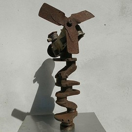 Emilio Merlina: 'all i need is fly', 2018 Mixed Media Sculpture, Fantasy. Artist Description: rusty...