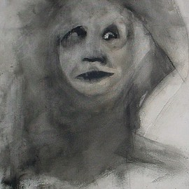 Emilio Merlina Artwork at the last checkpoint, 2010 Charcoal Drawing, Representational