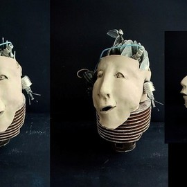 Emilio Merlina: 'brain drain', 2008 Mixed Media Sculpture, Inspirational.