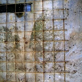 Emilio Merlina: 'can you see us 2008', 2008 Color Photograph, Inspirational. Artist Description:  An abandoned industrial floor , one finger to outline forms already clearly visible to me , a digital photo to take them with me.   ...
