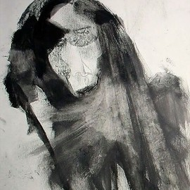 Emilio Merlina Artwork come back with me, 2009 Charcoal Drawing, Inspirational