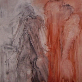 Emilio Merlina Artwork discussing the battle plan, 2008 Charcoal Drawing, Inspirational