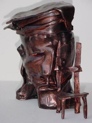 Emilio Merlina: 'empty chair', 1991 Ceramic Sculpture, Inspirational. Artist Description: sculpture terracotta...