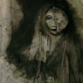 Emilio Merlina Artwork even the Death is tired 08, 2008 Charcoal Drawing, Inspirational