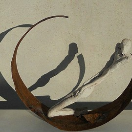 Emilio Merlina: 'for a crescent moon', 2011 Mixed Media Sculpture, Fantasy.