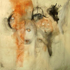 Emilio Merlina Artwork gatecrashing, 2008 Charcoal Drawing, Inspirational