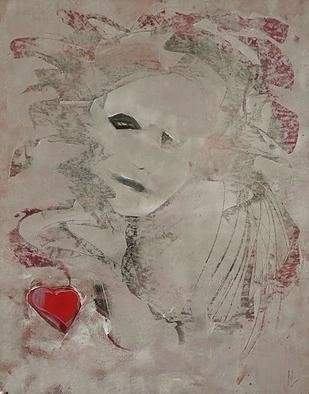 Emilio Merlina: 'give my heart back to me', 2017 Mixed Media, Fantasy. Artist Description: canvas...