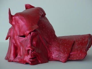 Emilio Merlina: 'hell angel', 1993 Ceramic Sculpture, Inspirational. Artist Description: sculpture terracotta...