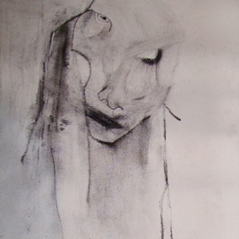 Emilio Merlina Artwork introspection 08, 2008 Charcoal Drawing, Inspirational