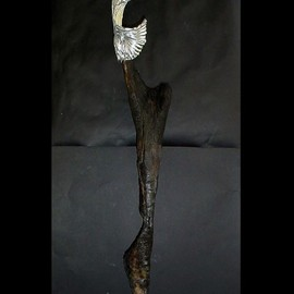 Emilio Merlina: 'it was just a burned wood dancer', 2009 Mixed Media Sculpture, Inspirational.