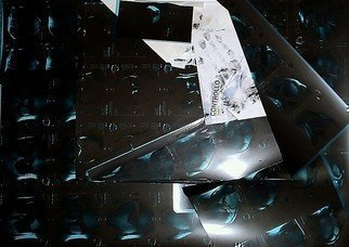 Collage by Emilio Merlina titled: lost soul X ray, 2009