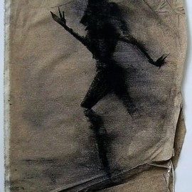 Emilio Merlina Artwork on the other side of the canvas, 2008 Charcoal Drawing, Inspirational