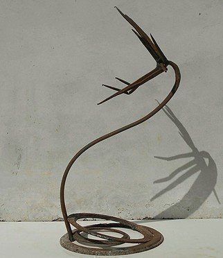Emilio Merlina: 'prayer', 2018 Mixed Media Sculpture, Fantasy. Artist Description: rusty iron...