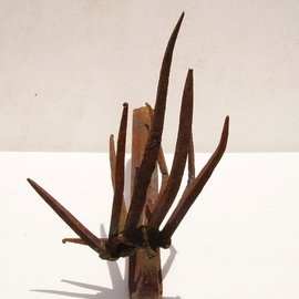 Emilio Merlina: 'prayer 03 08', 2008 Mixed Media Sculpture, Inspirational. Artist Description:  rusty iron ...