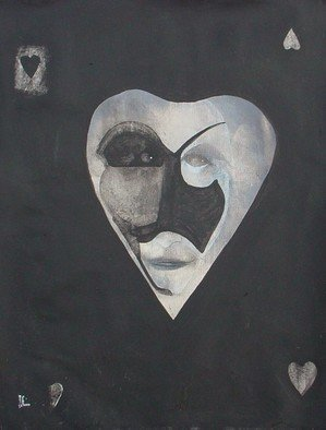 Emilio Merlina: 'the black hearts ace 09', 2009 Acrylic Painting, Inspirational.  acrylic on canvas ...