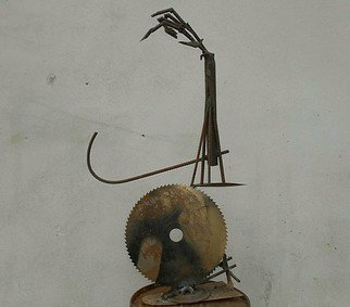 Emilio Merlina: 'the discus thrower', 2018 Mixed Media Sculpture, Fantasy.