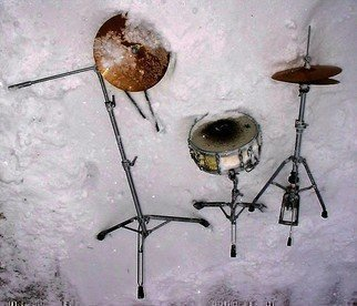 Color Photograph by Emilio Merlina titled: the drummer is gone 3  09, created in 2009