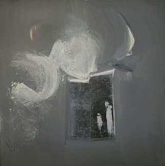 Emilio Merlina: 'the moon door', 2018 Mixed Media, Fantasy. Artist Description: canvas...