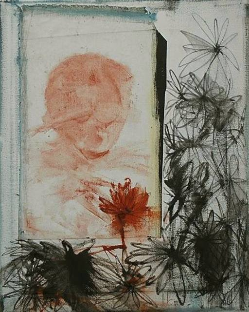 Emilio Merlina  'The Red Flower', created in 2017, Original Optic.
