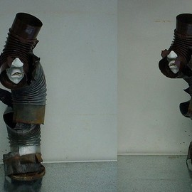 Emilio Merlina Artwork the soul chimney sweeper, 2010 Mixed Media Sculpture, Representational