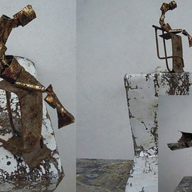 Emilio Merlina: 'the thinker', 2014 Mixed Media Sculpture, Fantasy.