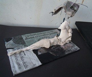 Emilio Merlina: 'waiting for good news', 2013 Mixed Media Sculpture, Fantasy.