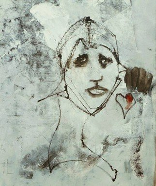 Emilio Merlina Artwork with heart in hand , 2016 Mixed Media, Fantasy