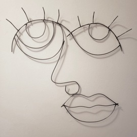 Emily Quackenbush: 'sugar lips', 2020 Steel Sculpture, Abstract. Artist Description: abstract face, hand sculpted then welded...