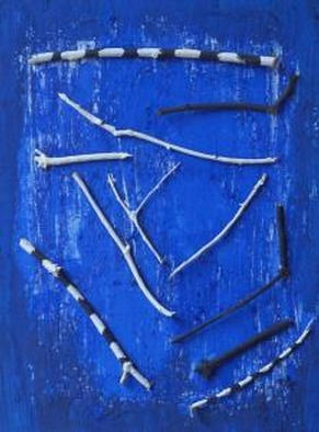 Michael Emmert Artwork Blue, 2002 Mixed Media, Abstract