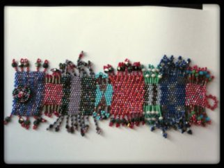 Tracey Hamilton: 'Multicoloed beaded bracelet', 2014 Beads, Pop. Artist Description:  One of a kind multicolored peyote stitch beaded