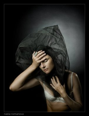 Romanova Nadia: 'heavy thoughts', 2010 Color Photograph, Conceptual.  life is what we think about it ...